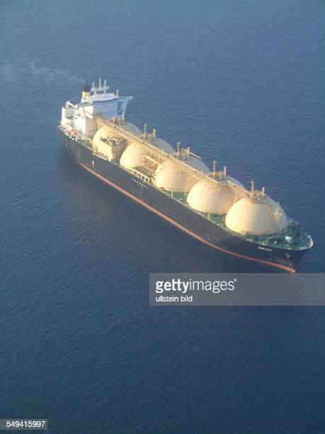 oil tanker of the QatarGas offshore drilling rig in the Persian Gulf