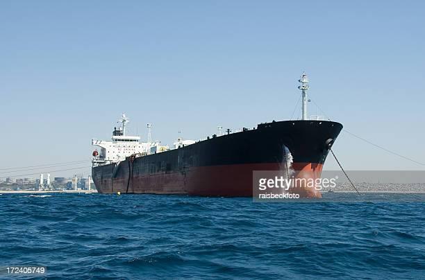 石油タンカーオフ南カリフォルニアの海岸