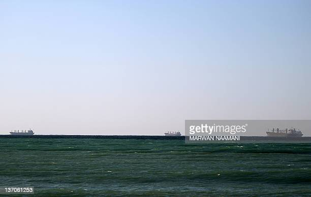 Oil tankers cruise out of the Strait of Hormuz off the shores of Tibat in Oman on January 15 2011 Iran threatened to close the Strait of Hormuz in...