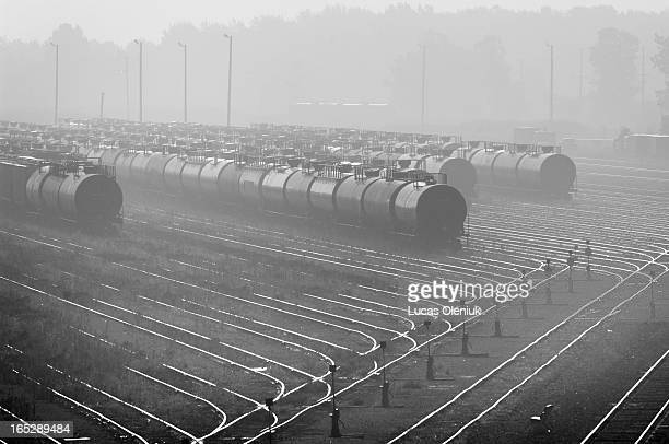 Oil tankers lie within the smog filled network of petrochemical and refining complexes in Sarnia, Ontario. AIRSICK