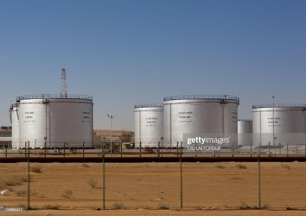 Oil Tanks In Saudi Arabia On January 18, 2010 - : News Photo