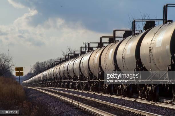 Oil train rides the rails