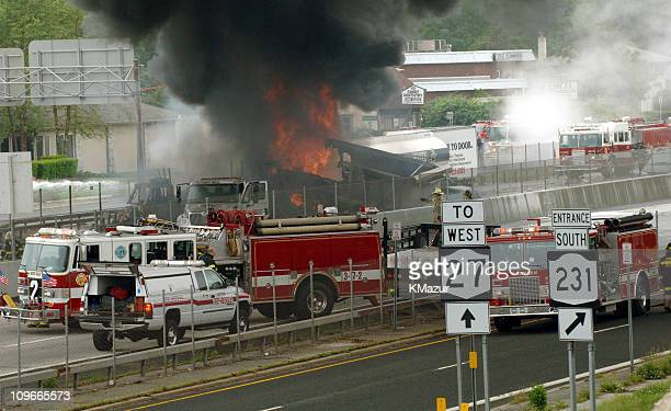 15 Oil Truck Fire And Nine Car Accident On Sunrise Highway