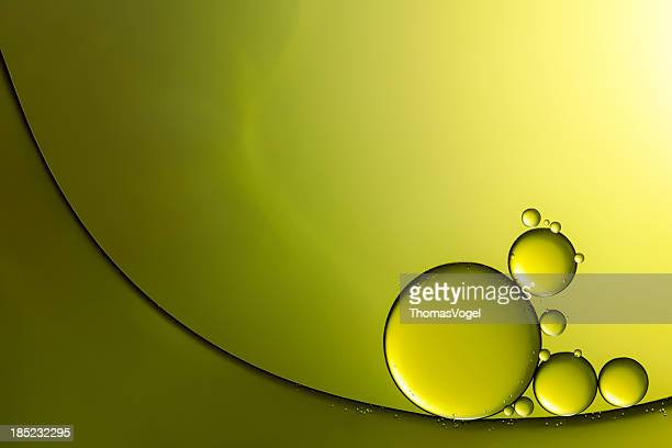 Oil & Water - Abstract Background Green Macro