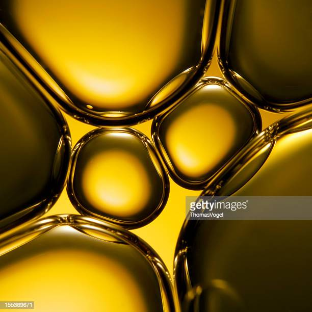 Oil & Water - Abstract Green Macro Background