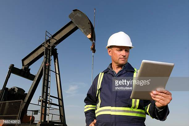 Oil Worker and Computer