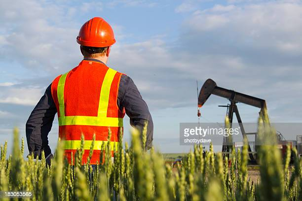 Oil Worker and Well