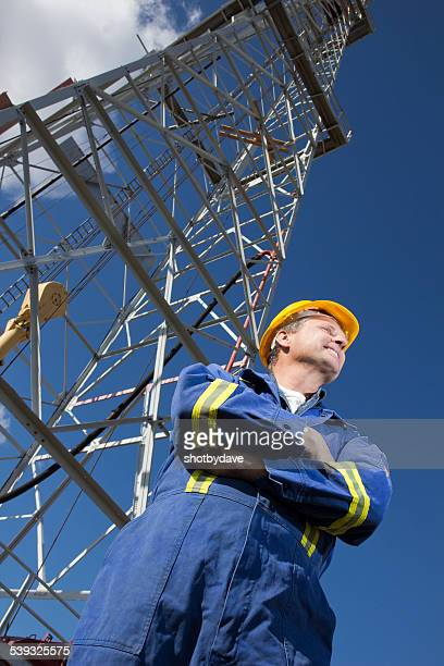 Oil Worker at a Drilling Rig