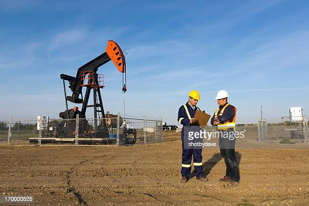 Oil Workers in Conversation