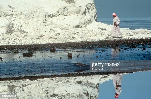 Oiled Coastline Persian Gulf Oil Spill 1991