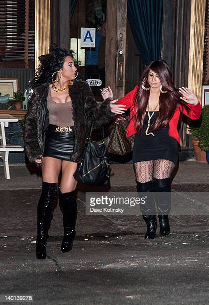 Oilivia Bloise Sharpe and Tracy Di Marco arrive at the the Gatsby Haircare launch at DROM Fragrances on February 28 2012 in New York City