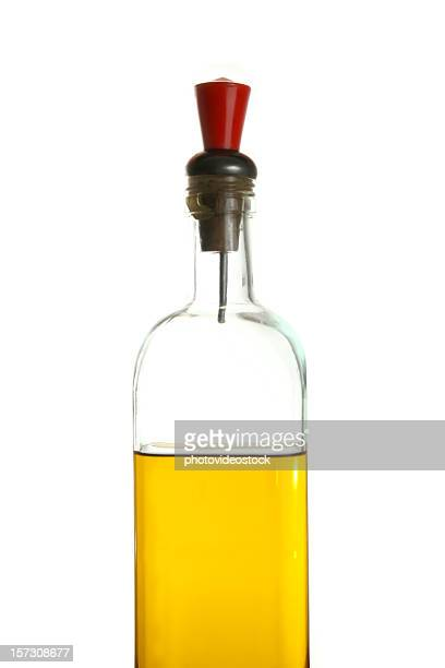 Oilve oil bottle with clipping path