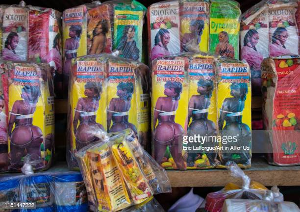Ointment sold in a market to have big buttocks Savanes district Boundiali Ivory Coast on May 3 2019 in Boundiali Ivory Coast