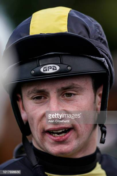 Oisin Murphy poses at Salisbury Racecourse on August 16 2018 in Salisbury United Kingdom