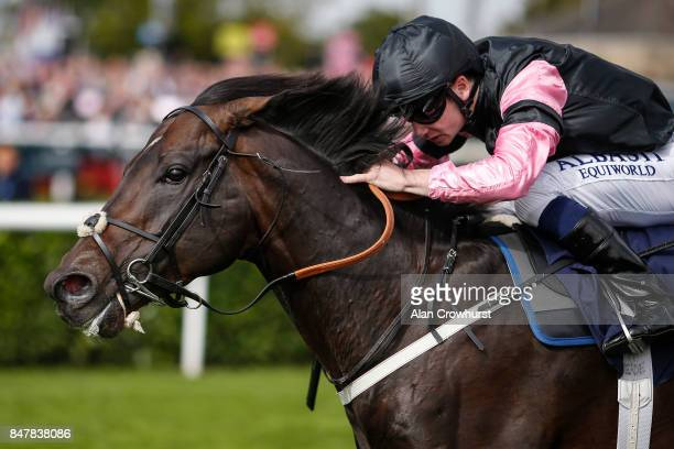 Oisin Murphy riding Aclaim win The Alan Wood Plumbing And Heating Park Stakes at Doncaster racecourse on September 16 2017 in Doncaster United Kingdom