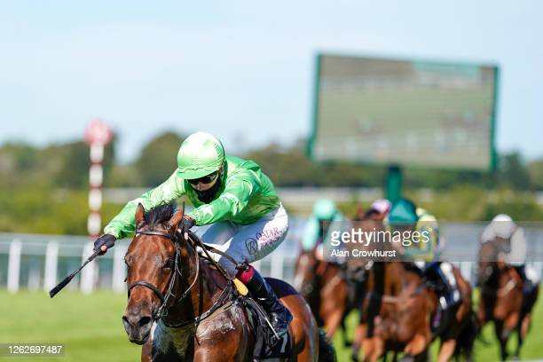 Oisin Murphy riding Aclam Express win The Tatler Nursery at Goodwood Racecourse on July 30 2020 in Chichester England Owners are allowed to attend if...
