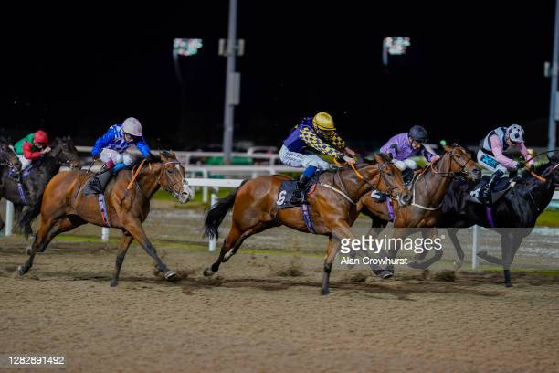 Oisin Murphy riding Eagle Creek win The tote.co.uk Free Streaming Every UK Race Handicap at Chelmsford City Racecourse on October 29, 2020 in...