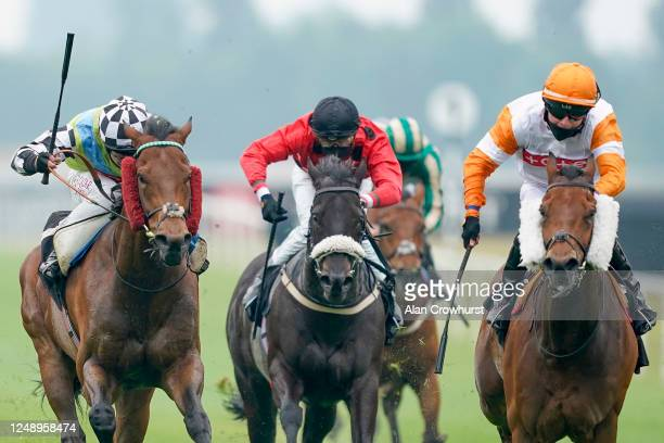 Oisin Murphy riding Global Hope win The It's Not Rocket Science With MansionBet Handicap at Newbury Racecourse on June 11, 2020 in Newbury, England.