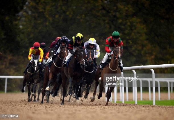 Oisin Murphy riding Global Spirit during The 32Red Casino race on November 7 2017 in Wolverhampton England
