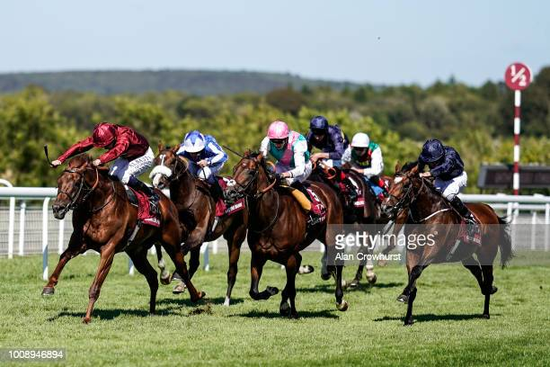 Oisin Murphy riding Lightning Spear wins The Qatar Sussex Stakes at Goodwood Racecourse on August 1 2018 in Chichester United Kingdom