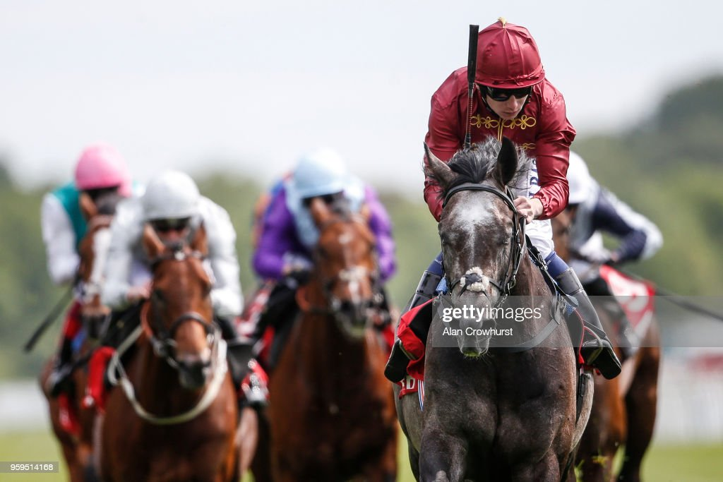Oisin Murphy riding Roaring Lion (R, maroon) comfortably win The Betfred Dante Stakes at York Racecourse on May 17, 2018 in York, United Kingdom.