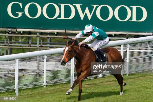Oisin Murphy riding Spirit Of Appin win The British EBF Premier Fillies' Handicap at Goodwood on May 23, 2019 in Chichester, England.