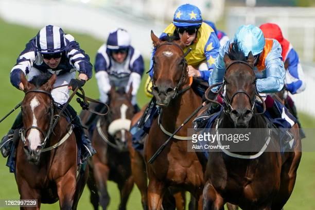 Oisin Murphy riding Ventura Diamond win The British EBF EBF Maiden Fillies' Stakes at Goodwood Racecourse on July 31 2020 in Chichester England...