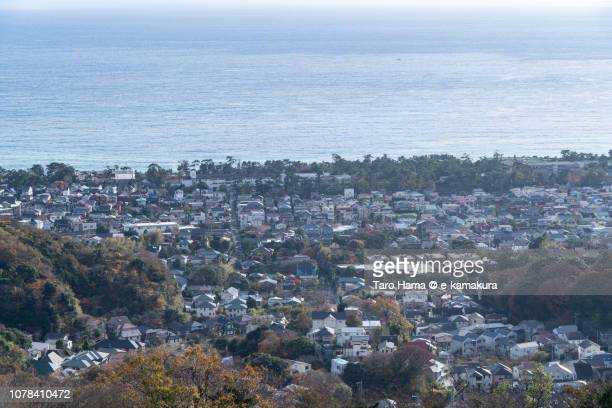Oiso town and Sagami Bay, Northern Pacific Ocean in Japan