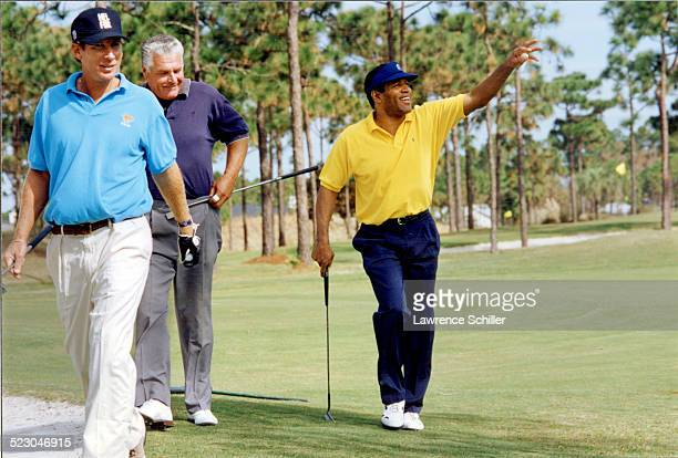 Simpson on the golf course in Florida weeks after his acquittal