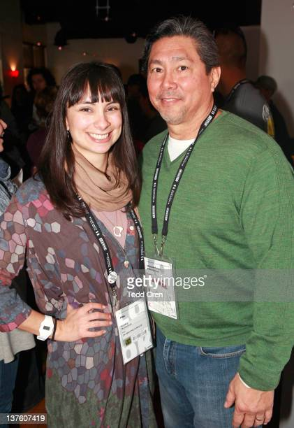 'Ok Breathe Auralee' actress Kendra Mylnechuk and guest attend the Native Forum Brunch during the 2012 Sundance Film Festival held at the Mustang on...