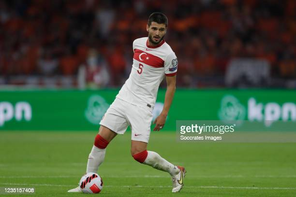 Okay Yokuslu of Turkey during the World Cup Qualifier match between Holland v Turkey at the Johan Cruijff Arena on September 7, 2021 in Amsterdam...