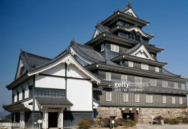 Okayama Castle also known as Crow Castle rebuilt in 1966 Japan