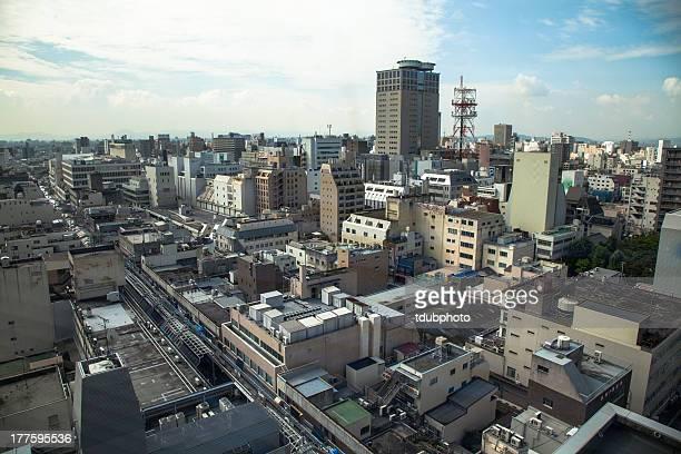 okayama skyline - präfektur okayama stock-fotos und bilder