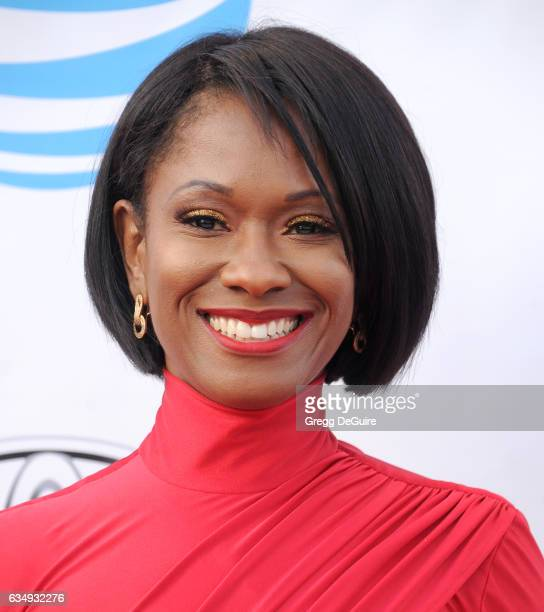 Okera Banks arrives at the 48th NAACP Image Awards at Pasadena Civic Auditorium on February 11 2017 in Pasadena California