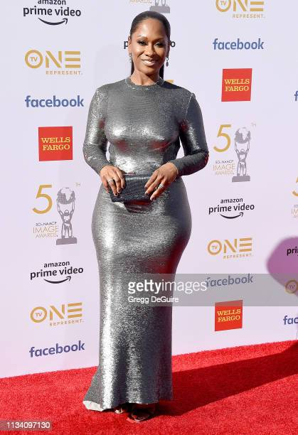 Okera Banks arrives at the 50th NAACP Image Awards at Dolby Theatre on March 30 2019 in Hollywood California