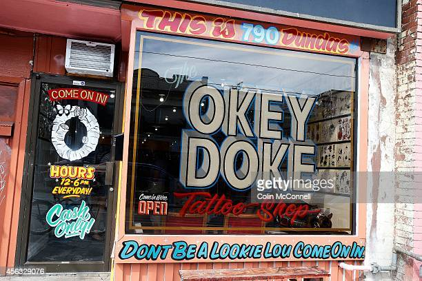 OkeyDoke Tattoo parlour on Dundas St West has some help for the indecisive going in for a tattooA gumball machine that will spit out a randomly...
