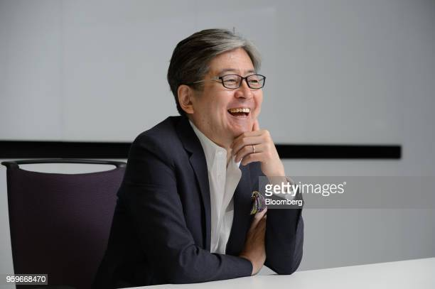Oki Matsumoto chief executive officer of Monex Group Inc reacts during an interview in Tokyo Japan on Tuesday May 8 2018 Under new leadership after a...