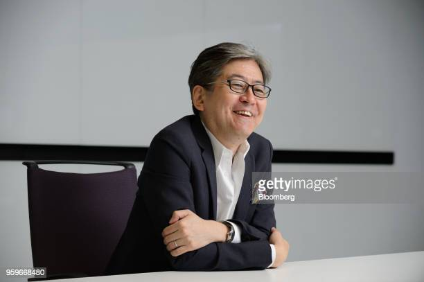 Oki Matsumoto chief executive officer of Monex Group Inc speaks during an interview in Tokyo Japan on Tuesday May 8 2018 Under new leadership after a...