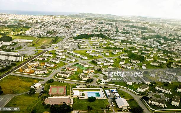 okinawa, japan: aerial view - base stock pictures, royalty-free photos & images