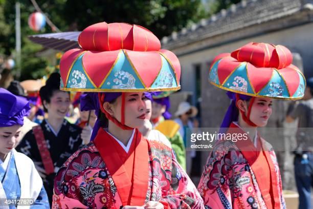 okinawan matsuri - okinawa prefecture stock pictures, royalty-free photos & images
