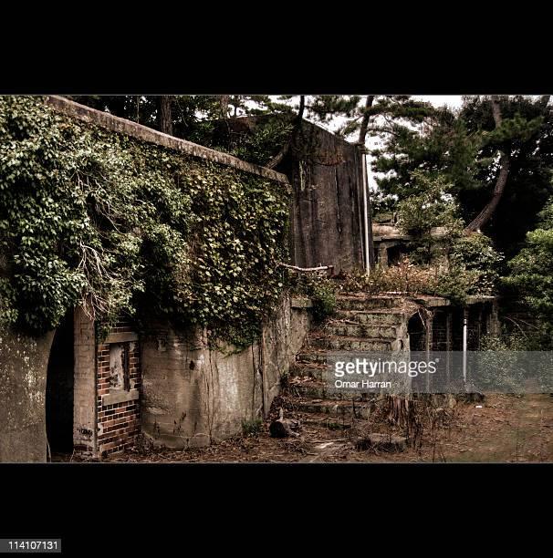 Okinoshima Island with bunkers