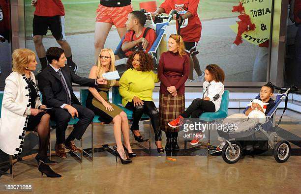 THE VIEW Oklahoma boy Tobias Bass and his brother Titus who has Cerebral Palsy appeared on 'The View' today October 2 2013 Tobias asked his local...
