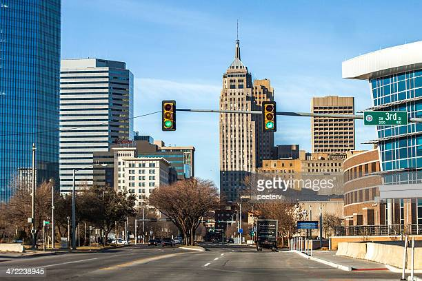 oklahoma city downtown. - oklahoma city stock pictures, royalty-free photos & images
