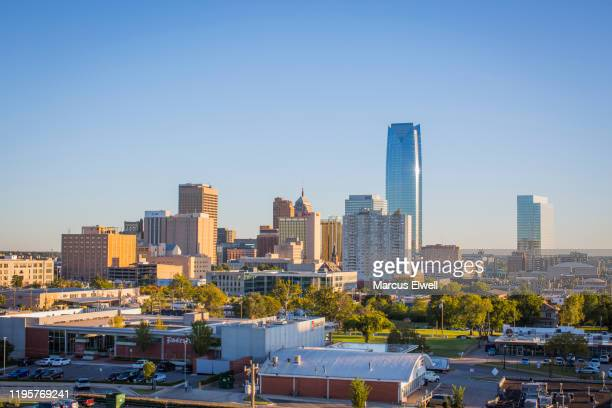oklahoma city downtown skyline - oklahoma city stock pictures, royalty-free photos & images