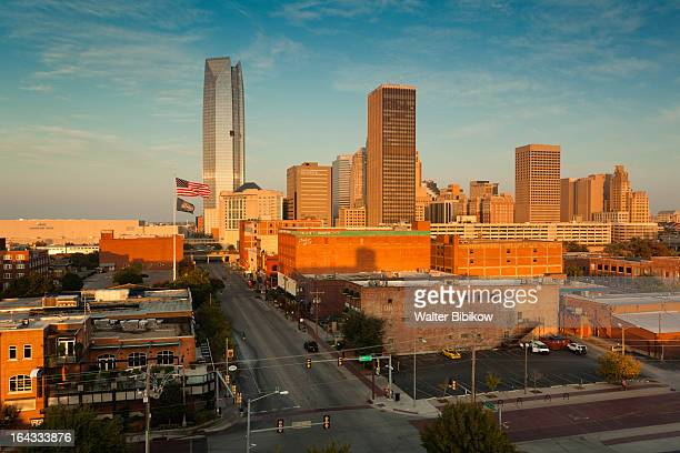 oklahoma city, oklahoma, city view - oklahoma city stock photos and pictures