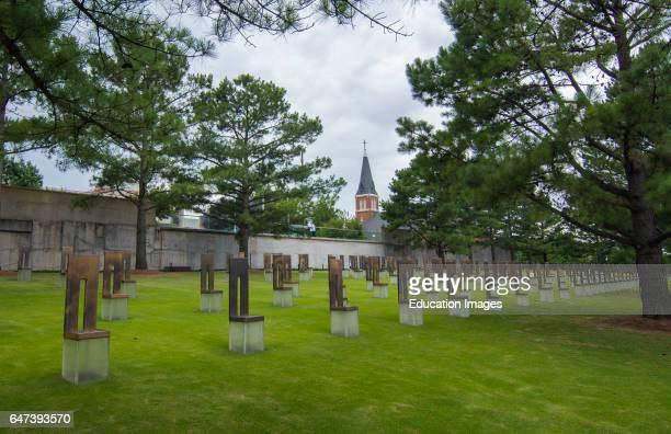 Oklahoma City Oklahoma OK OKC historical disaster OKC bombing remains at OKC Bombing Memorial that happened on April 19 1995