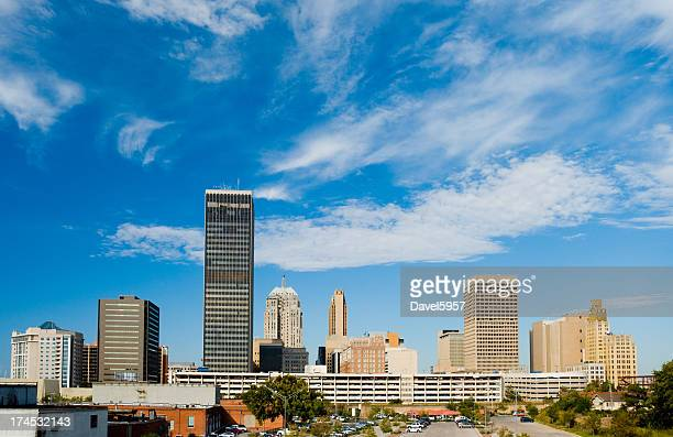 oklahoma city skyline during the day - oklahoma city stock pictures, royalty-free photos & images