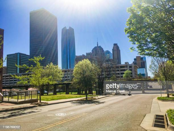 oklahoma city skylines - oklahoma city stock pictures, royalty-free photos & images