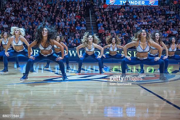 Oklahoma City Thunder Girls performing versus Atlanta Hawks on December 19 at the Chesapeake Energy Arena Oklahoma City OK