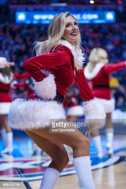 Oklahoma City Thunder Girls performing versus Houston Rockets at the Chesapeake Energy Arena Oklahoma City OK